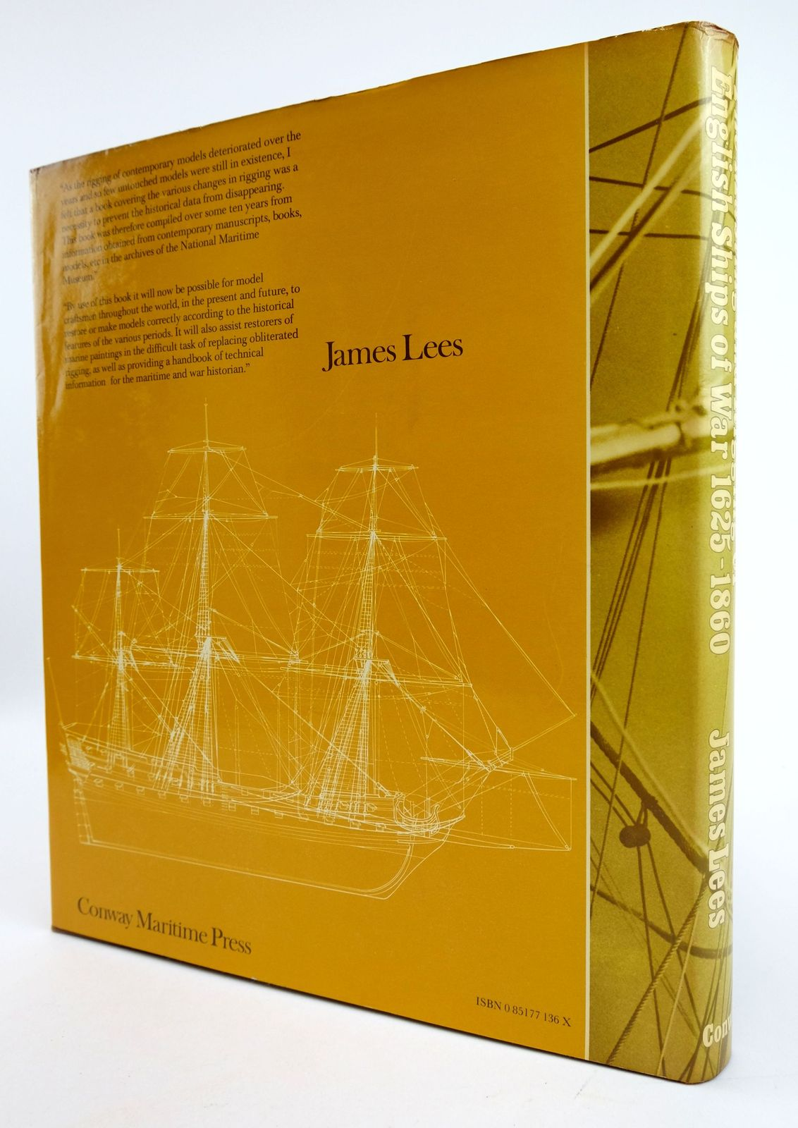 Photo of THE MASTING AND RIGGING OF ENGLISH SHIPS OF WAR 1625-1860 written by Lees, James published by Conway Maritime Press (STOCK CODE: 1819116)  for sale by Stella & Rose's Books