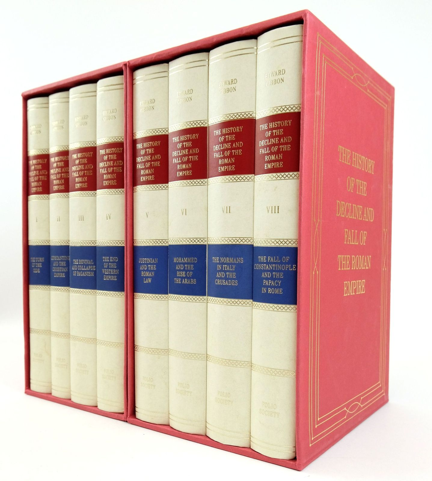 Photo of THE HISTORY OF THE DECLINE AND FALL OF THE ROMAN EMPIRE (8 VOLUMES)
