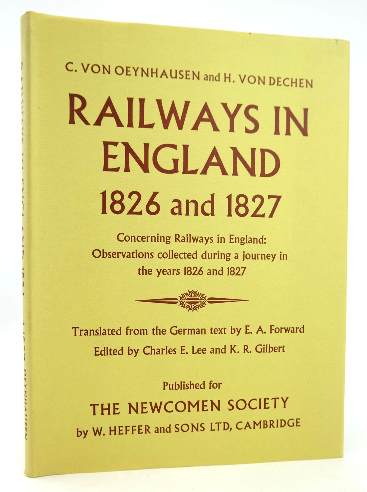 Photo of RAILWAYS IN ENGLAND 1826 AND 1827 written by Von Oeynhausen, C. Von Dechen, H. Forward, E.A. published by W. Heffer & Sons Ltd. (STOCK CODE: 1819244)  for sale by Stella & Rose's Books