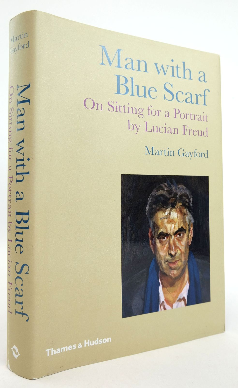 Photo of MAN WITH A BLUE SCARF: ON SITTING FOR A PORTRAIT BY LUCIAN FREUD- Stock Number: 1819311