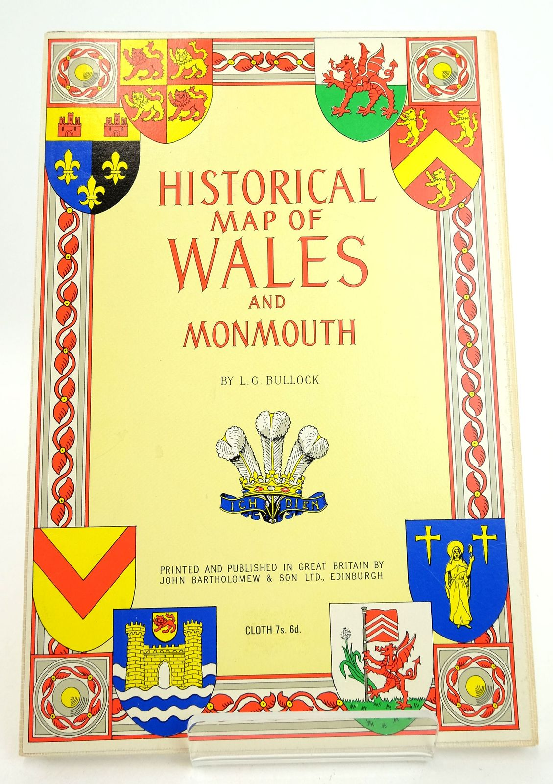 Photo of HISTORICAL MAP OF WALES AND MONMOUTH- Stock Number: 1819361