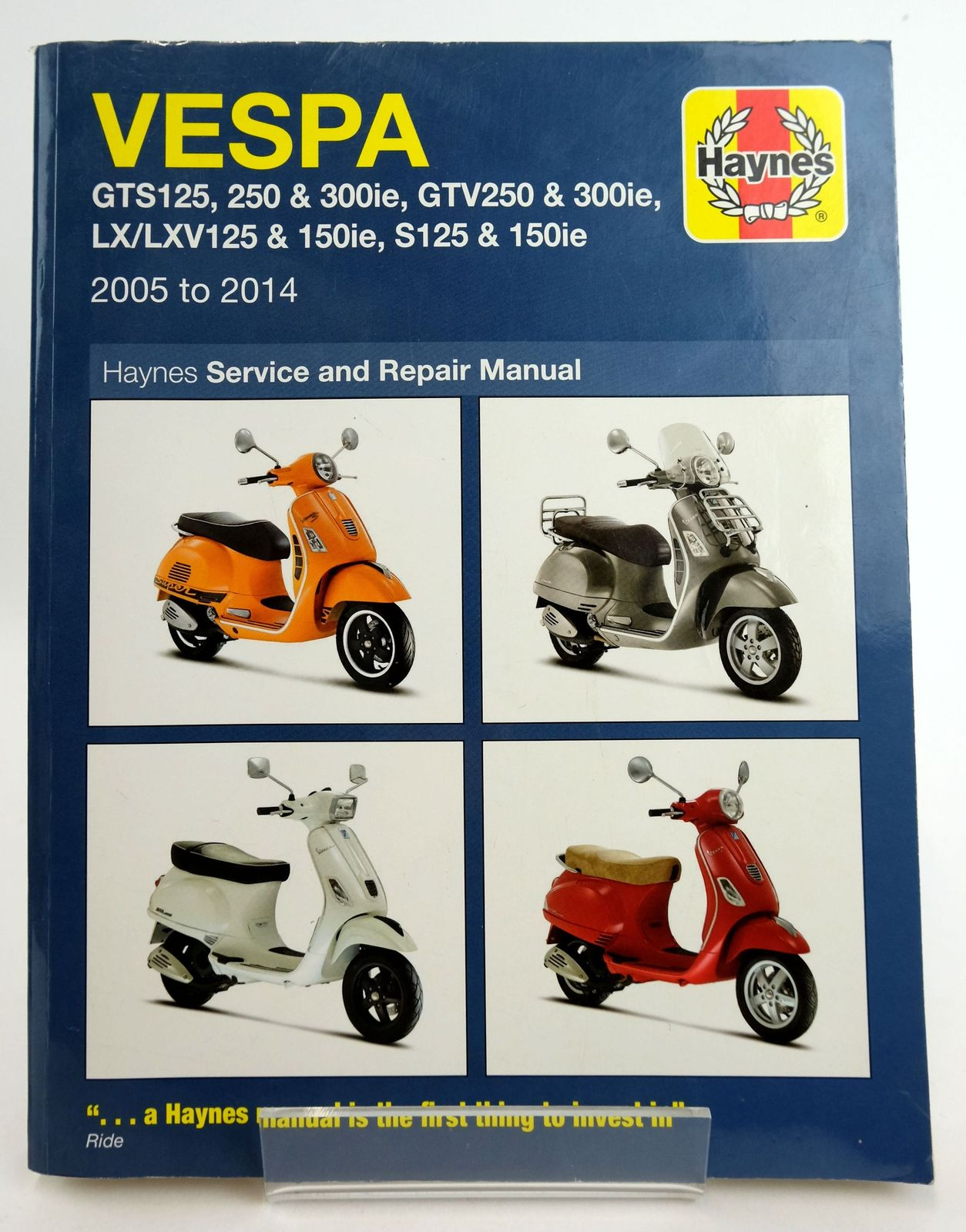 Photo of VESPA SCOOTERS SERVICE AND REPAIR MANUAL- Stock Number: 1819420