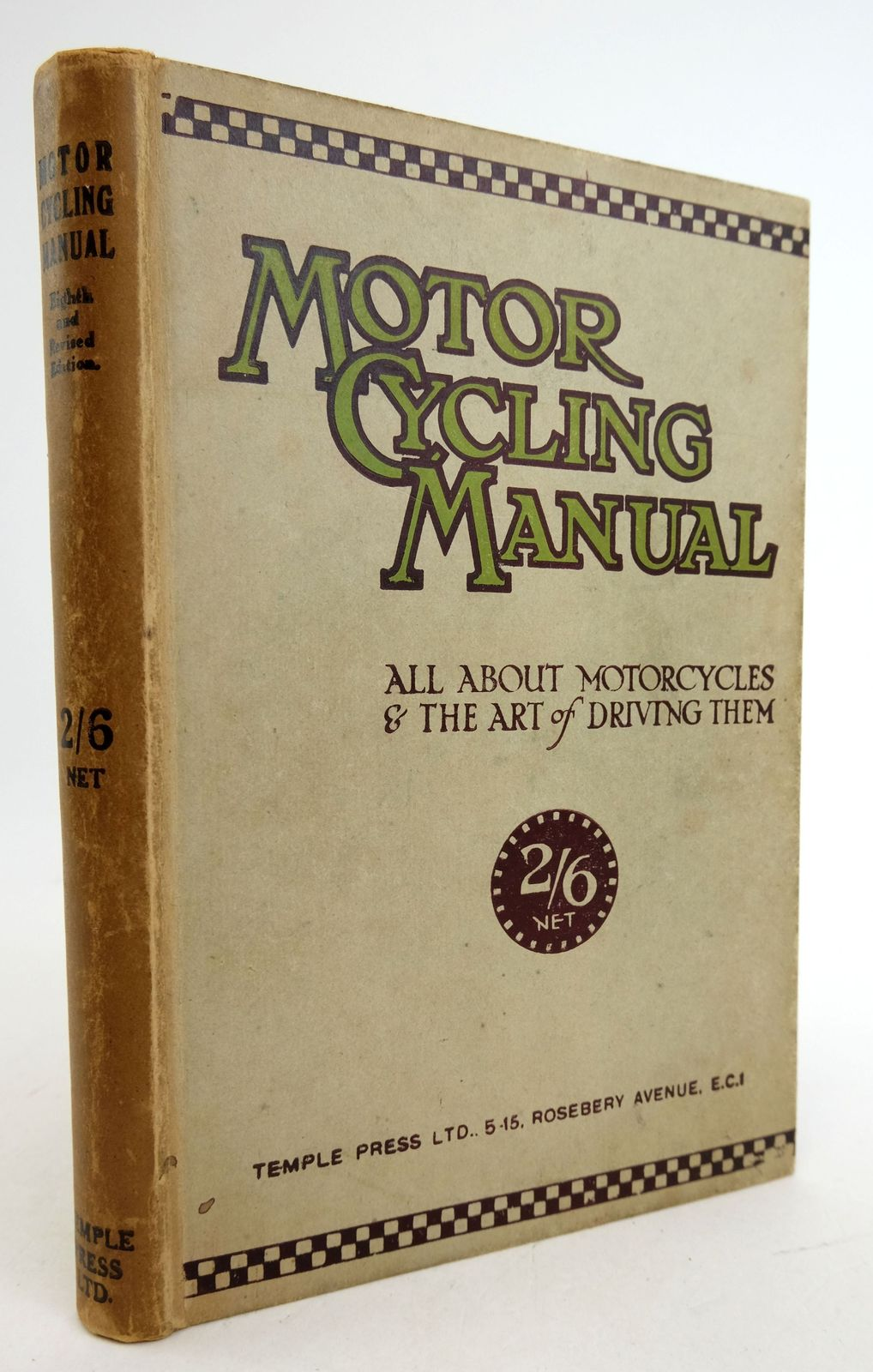 Photo of MOTOR CYCLING MANUAL: ALL ABOUT MOTORCYCLES AND THE ART OF DRIVING THEM published by Temple Press Limited (STOCK CODE: 1819442)  for sale by Stella & Rose's Books