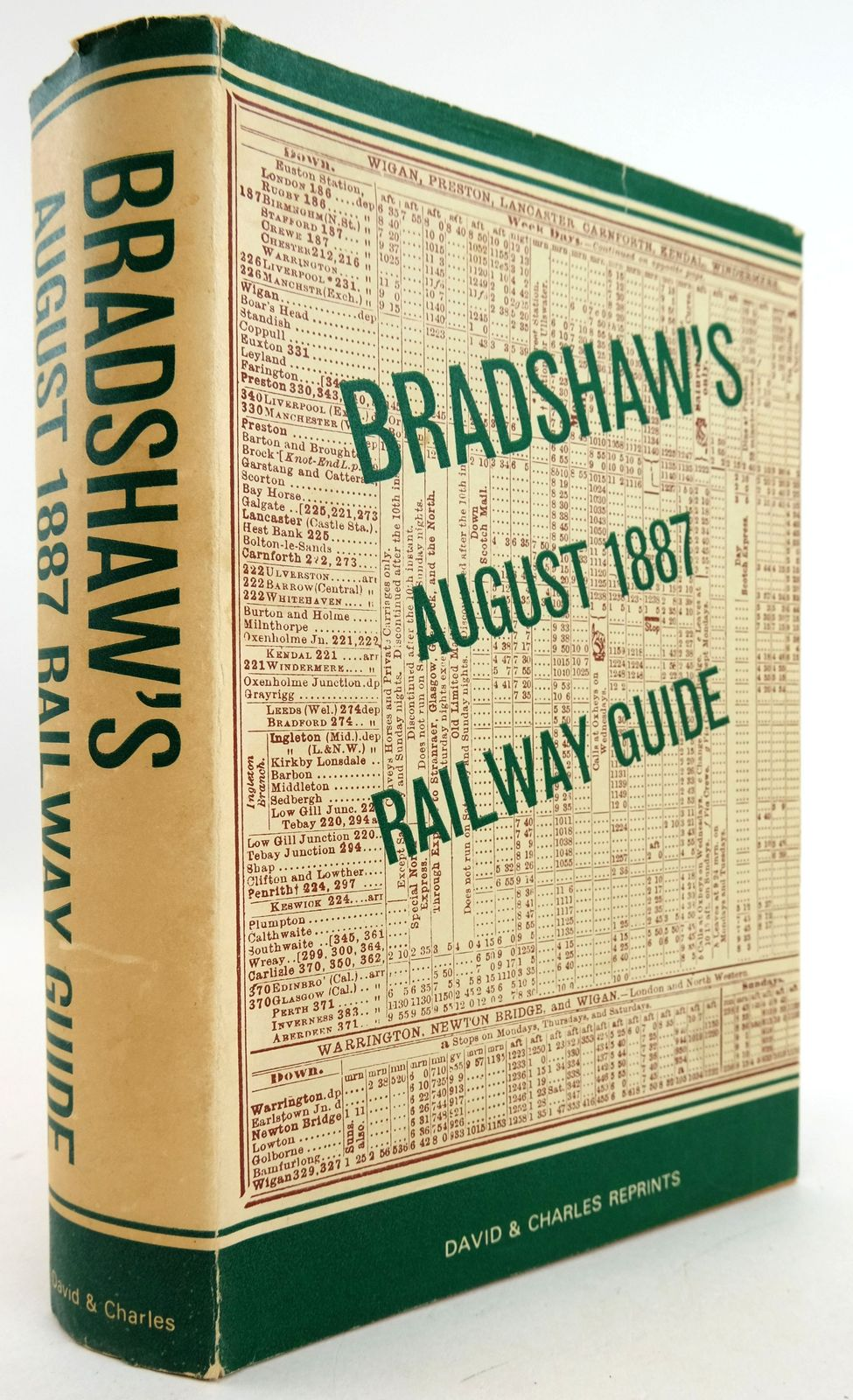 Photo of BRADSHAW'S AUGUST 1887 RAILWAY GUIDE- Stock Number: 1819487