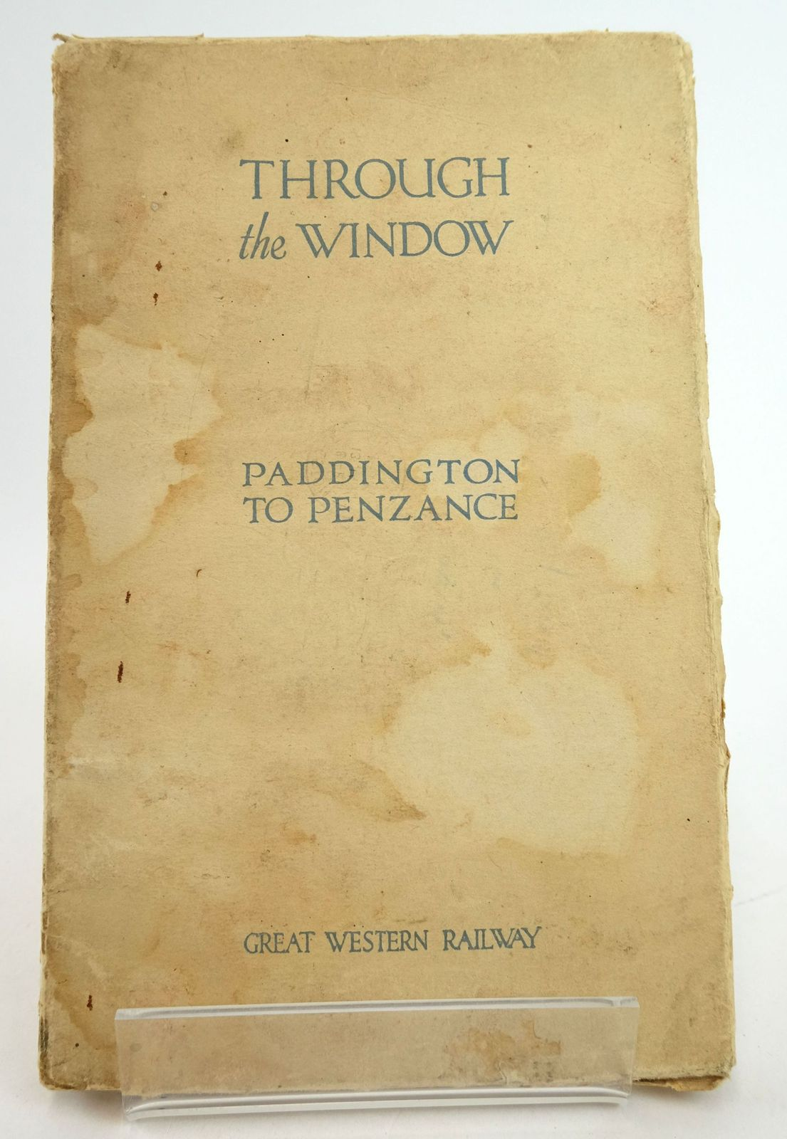Photo of THROUGH THE WINDOW NUMBER ONE: PADDINGTON TO PENZANCE- Stock Number: 1819490