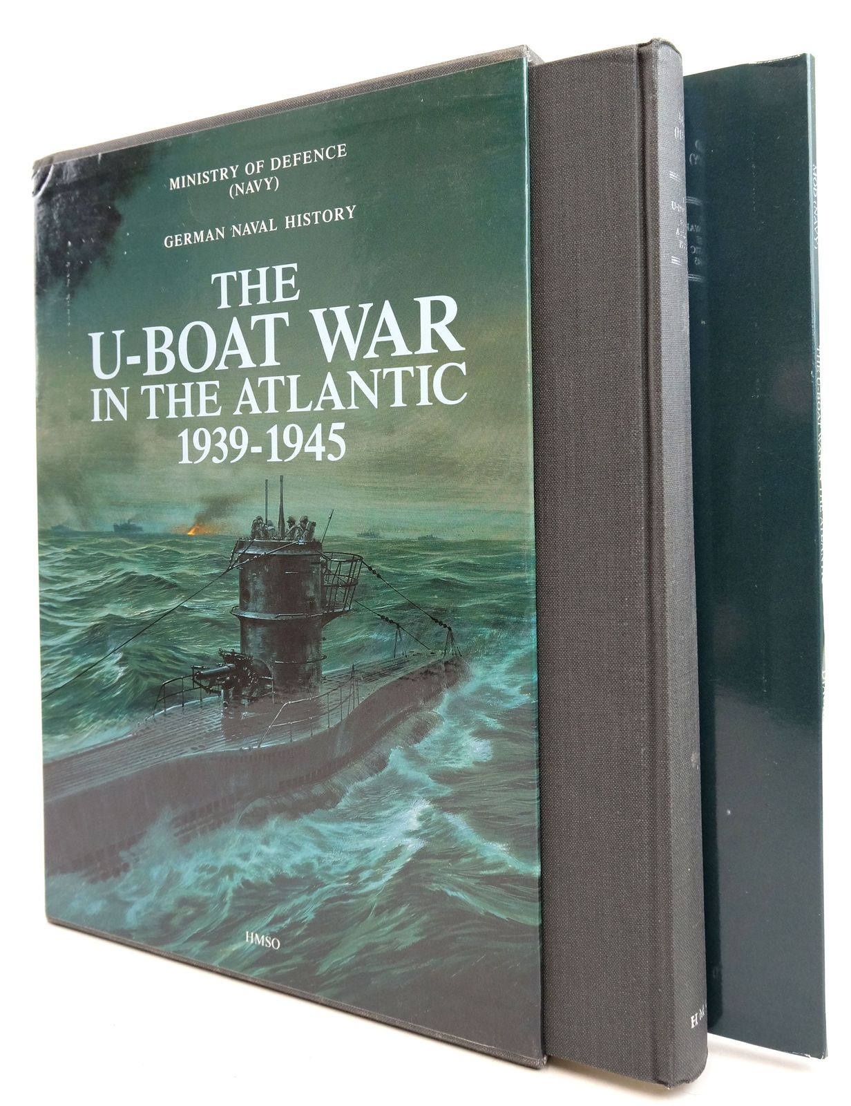 Photo of GERMAN NAVAL HISTORY: THE U-BOAT WAR IN THE ATLANTIC 1939 - 1945 written by Withers, Lt. Commander Andrew J. et al,  published by HMSO (STOCK CODE: 1819537)  for sale by Stella & Rose's Books
