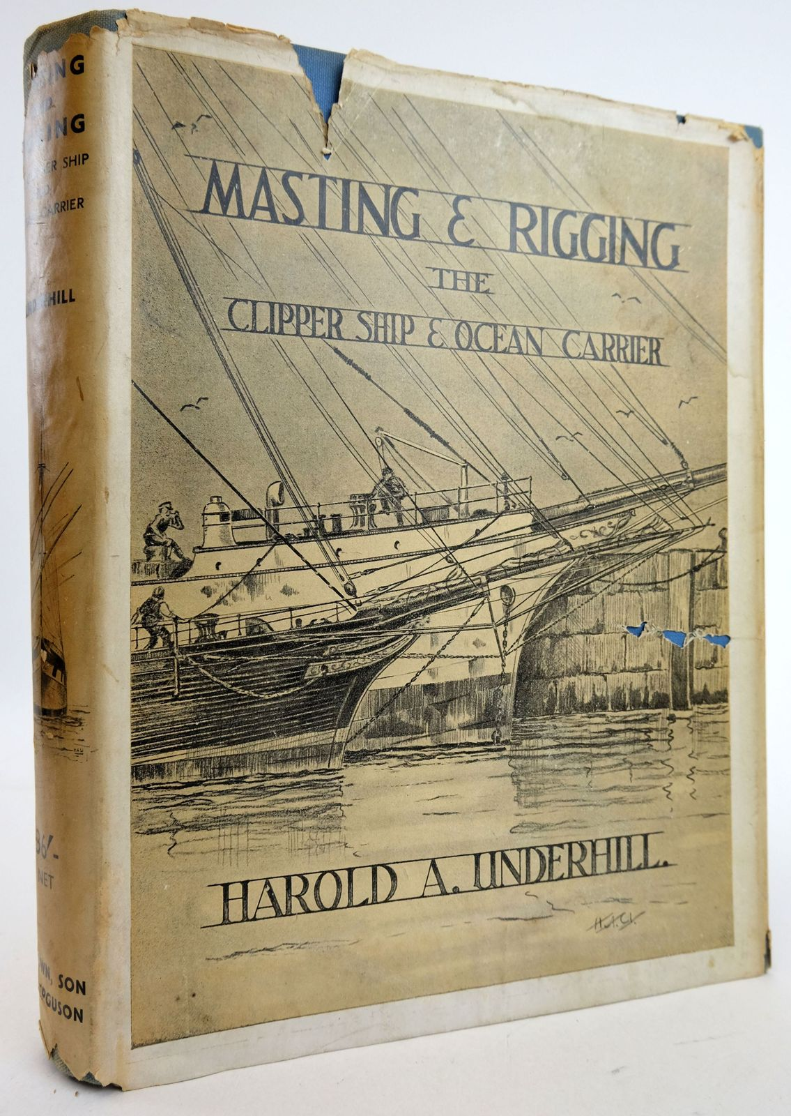 Photo of MASTING AND RIGGING THE CLIPPER SHIP & OCEAN CARRIER- Stock Number: 1819719