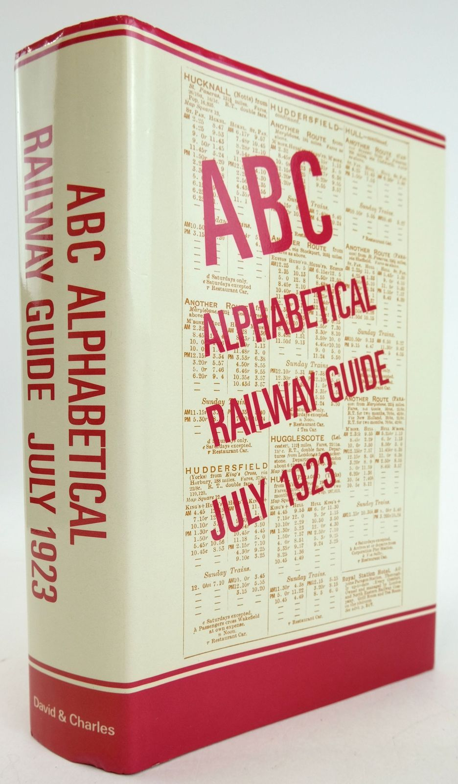 Photo of THE ABC ALPHABETICAL RAILWAY GUIDE JULY 1923- Stock Number: 1819750