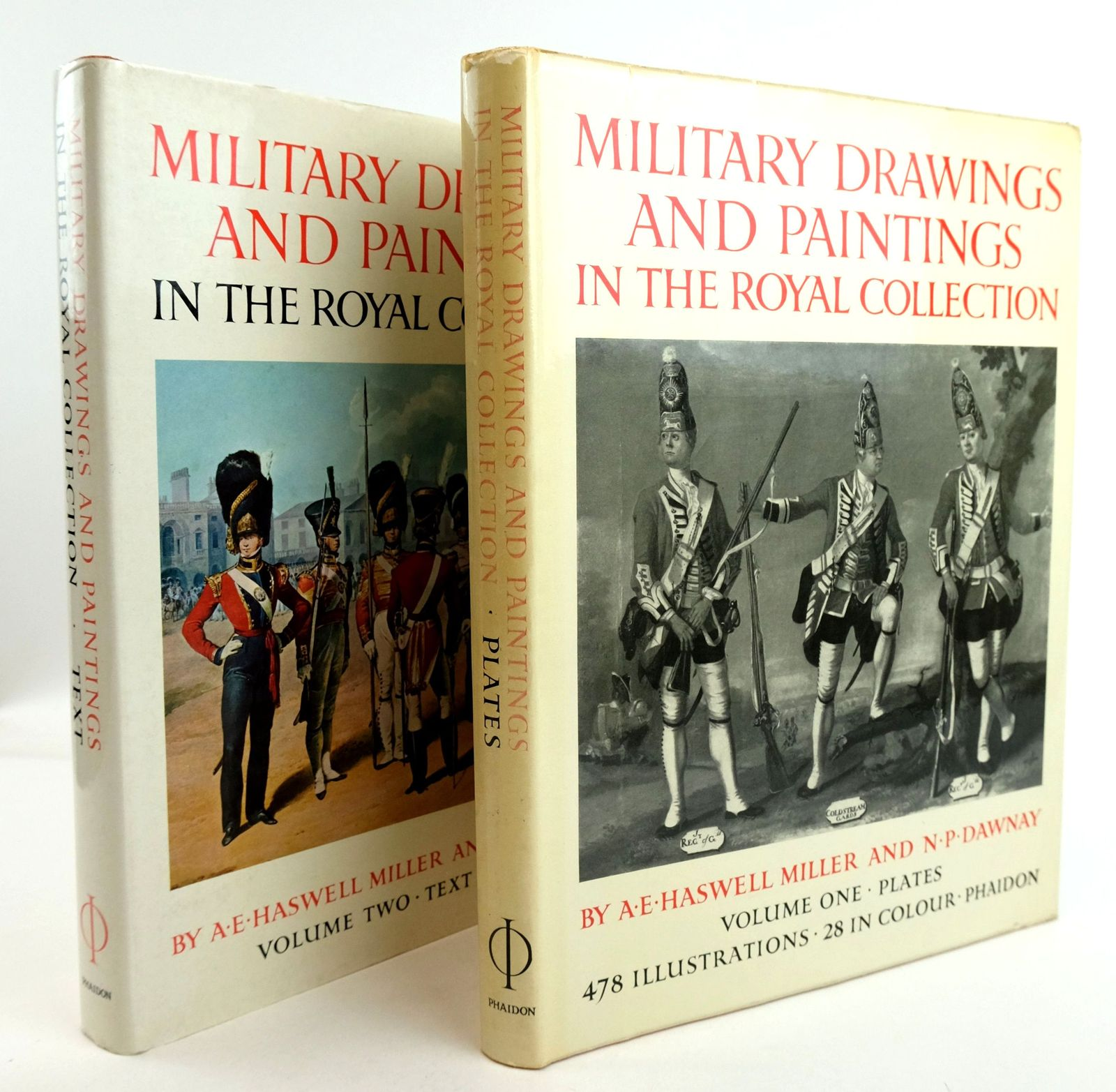 Photo of MILITARY DRAWINGS AND PAINTINGS IN THE COLLECTION OF HER MAJESTY THE QUEEN (2 VOLUMES)- Stock Number: 1819800