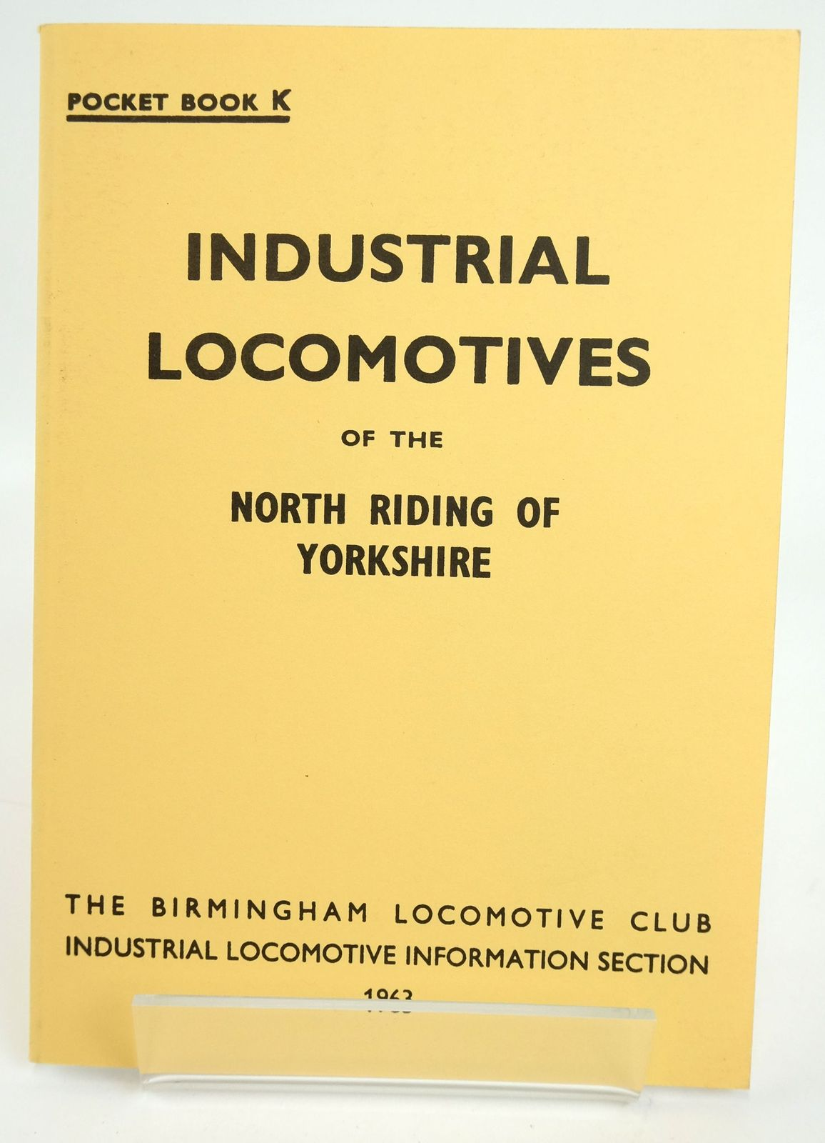 Photo of INDUSTRIAL LOCOMOTIVES OF THE NORTH RIDING OF YORKSHIRE- Stock Number: 1820110