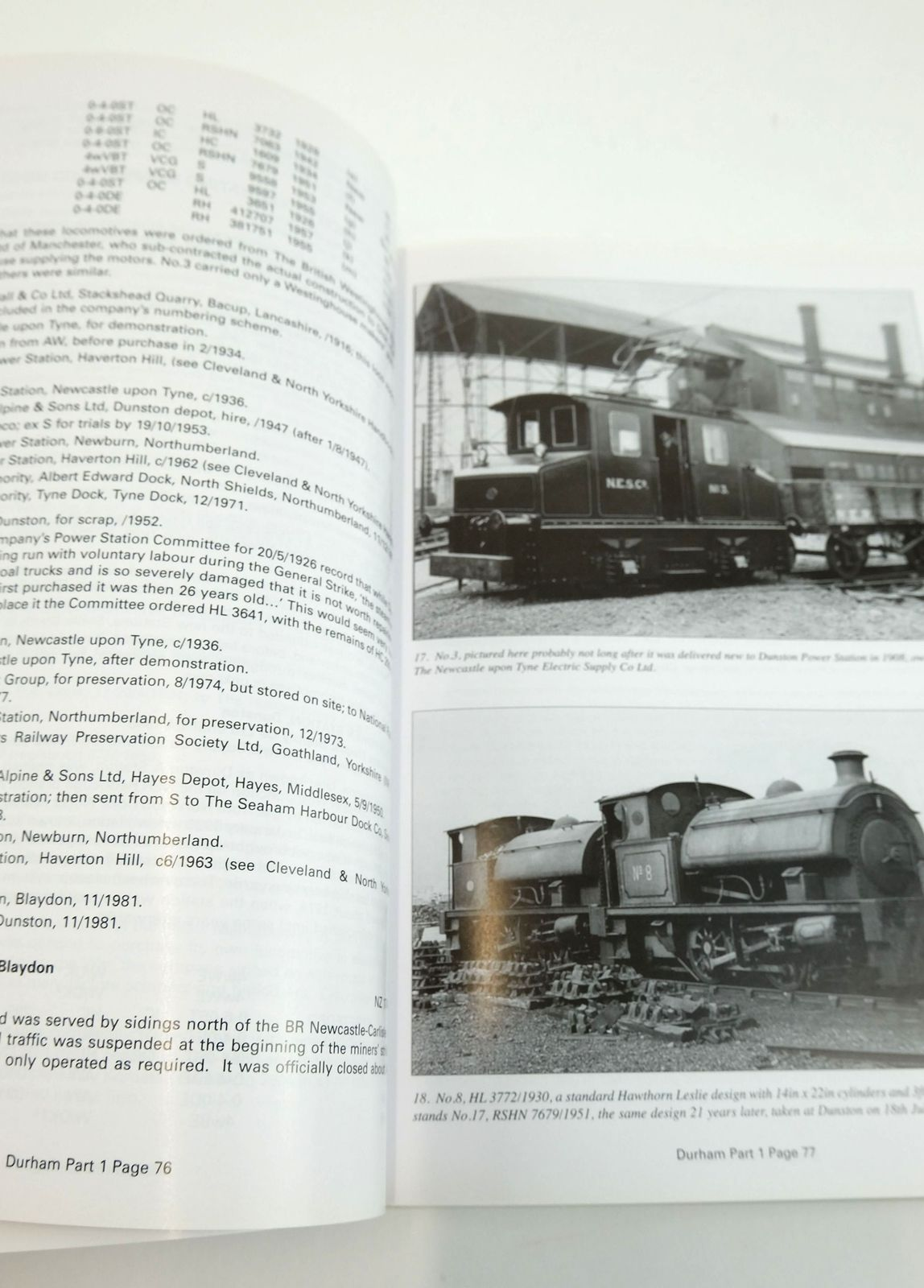 Photo of THE INDUSTRIAL RAILWAYS & LOCOMOTIVES OF COUNTY DURHAM WITH A HISTORY OF THEIR OWNERS & SITES PART 1 written by Mountford, Colin E. Holroyde, Dave published by The Industrial Railway Society (STOCK CODE: 1820120)  for sale by Stella & Rose's Books