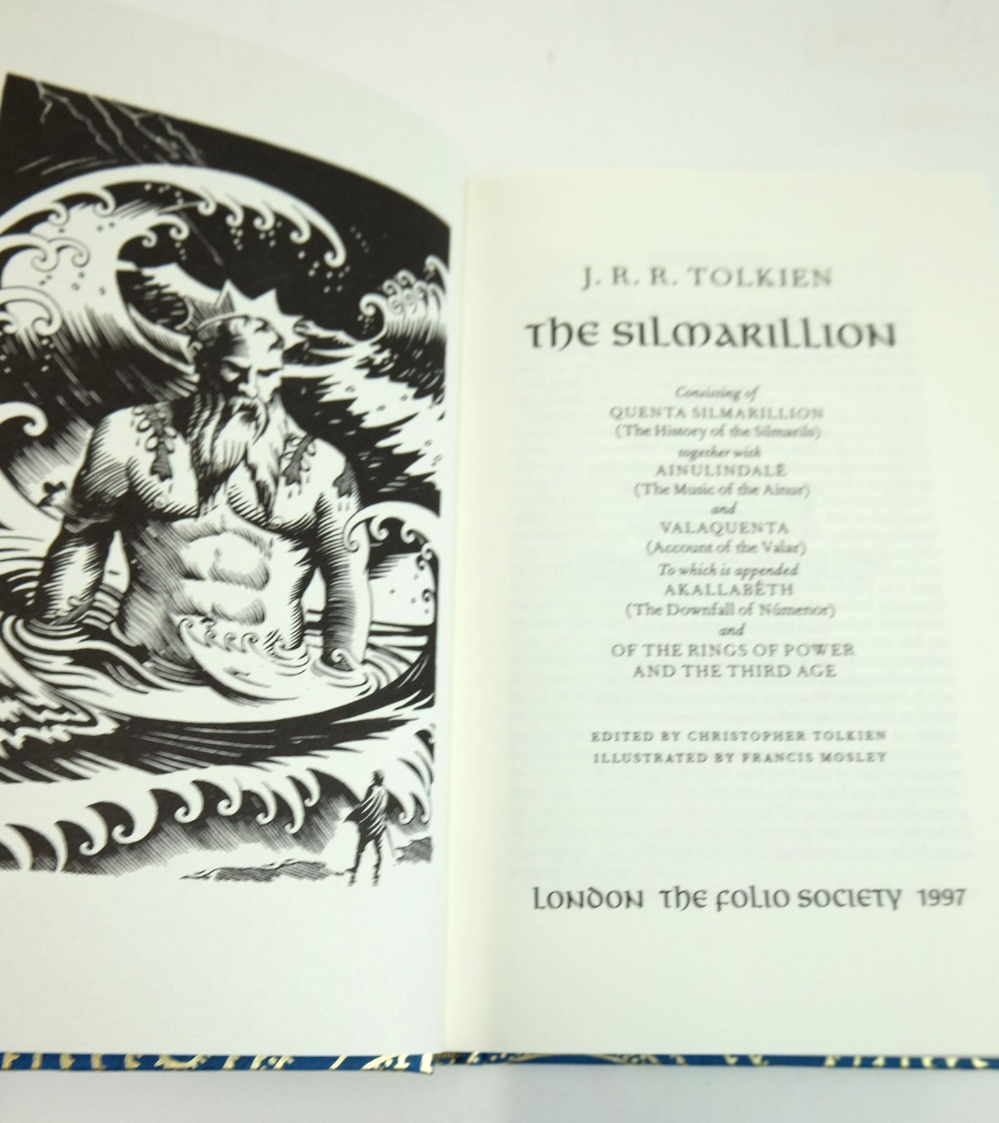 Photo of THE SILMARILLION written by Tolkien, J.R.R. Tolkien, Christopher illustrated by Mosley, Francis published by Folio Society (STOCK CODE: 1820232)  for sale by Stella & Rose's Books