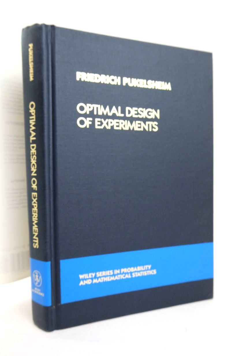 Photo of OPTIMAL DESIGN OF EXPERIMENTS written by Pukelsheim, Friedrich published by John Wiley & Sons (STOCK CODE: 1820379)  for sale by Stella & Rose's Books