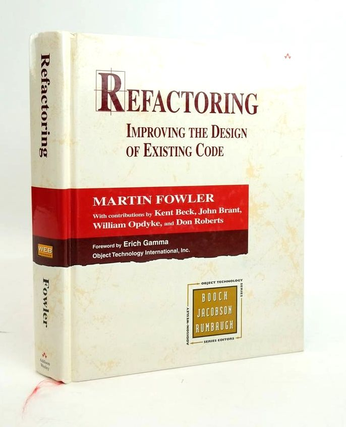 Photo of REFACTORING: IMPROVING THE DESIGN OF EXISTING CODE (OBJECT TECHNOLOGY SERIES) written by Fowler, Martin published by Addison-Wesley (STOCK CODE: 1820451)  for sale by Stella & Rose's Books