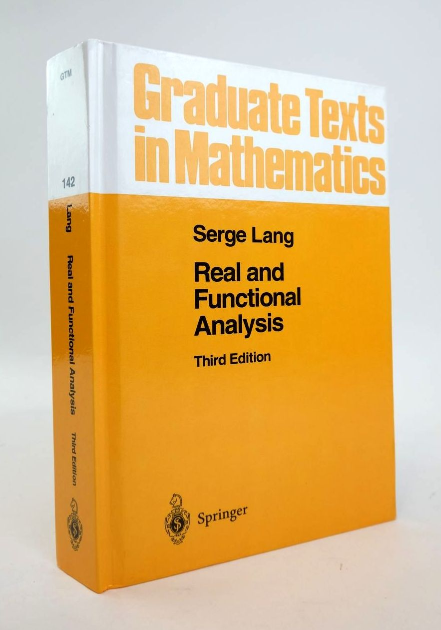 Photo of REAL AND FUNCTIONAL ANALYSIS written by Lang, Serge published by Springer (STOCK CODE: 1820457)  for sale by Stella & Rose's Books