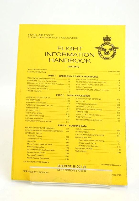 Photo of FLIGHT INFORMATION HANDBOOK- Stock Number: 1820536