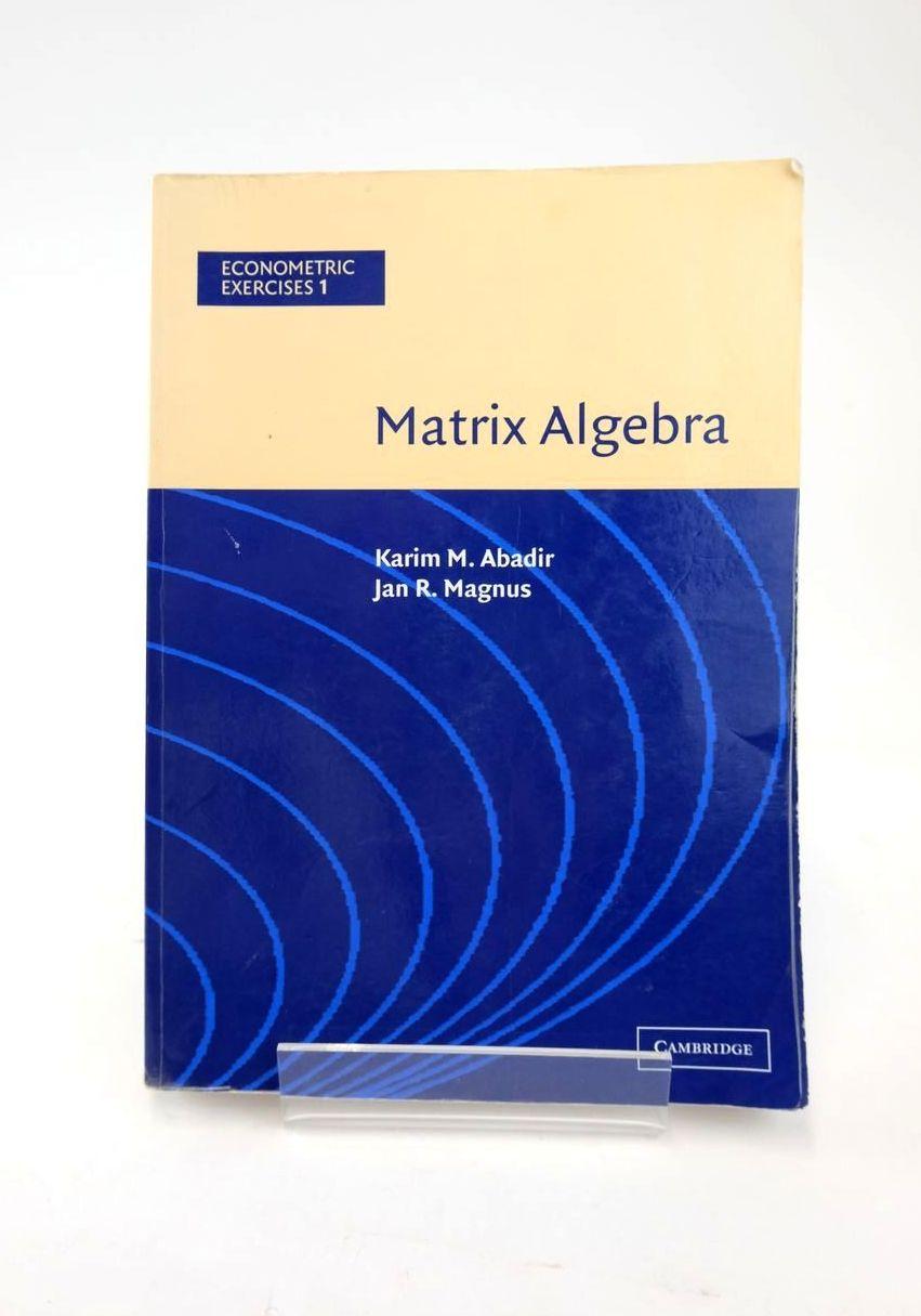 Photo of MATRIX ALGEBRA (ECONOMETRIC EXERCISES 1)- Stock Number: 1820867