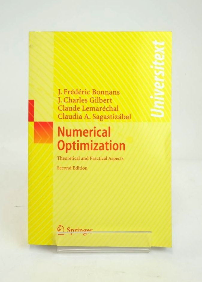 Photo of NUMERICAL OPTIMIZATION: THEORETICAL AND PRACTICAL ASPECTS (UNIVERSITEXT)- Stock Number: 1820873