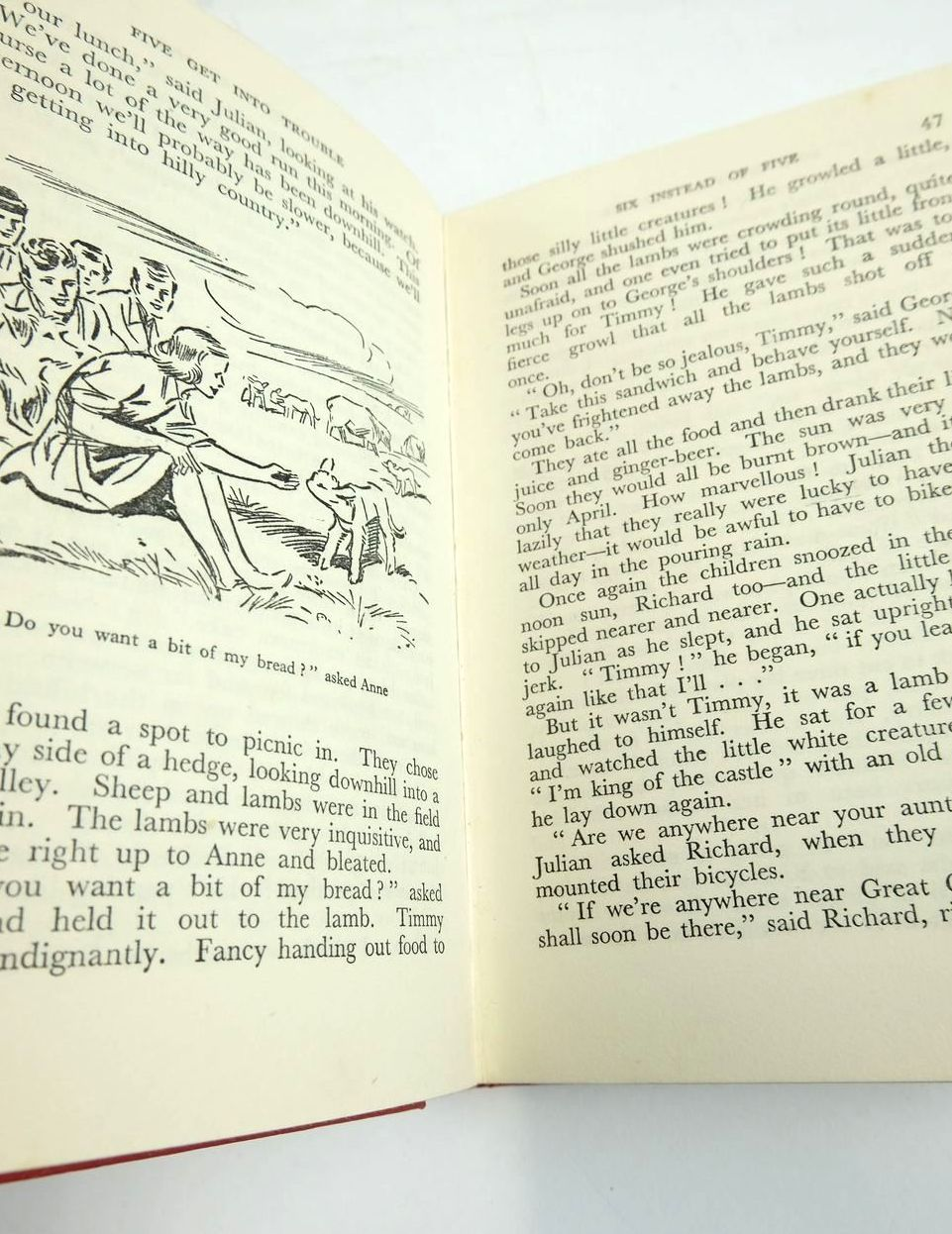 Photo of FIVE GET INTO TROUBLE written by Blyton, Enid illustrated by Soper, Eileen published by Hodder & Stoughton (STOCK CODE: 1820895)  for sale by Stella & Rose's Books
