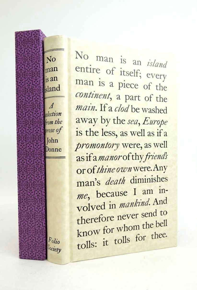 Photo of NO MAN IS AN ISLAND written by Donne, John Scott, Rivers published by Folio Society (STOCK CODE: 1821541)  for sale by Stella & Rose's Books