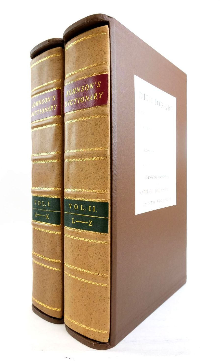 Photo of A DICTIONARY OF THE ENGLISH LANGUAGE (2 VOLUMES)- Stock Number: 1821784