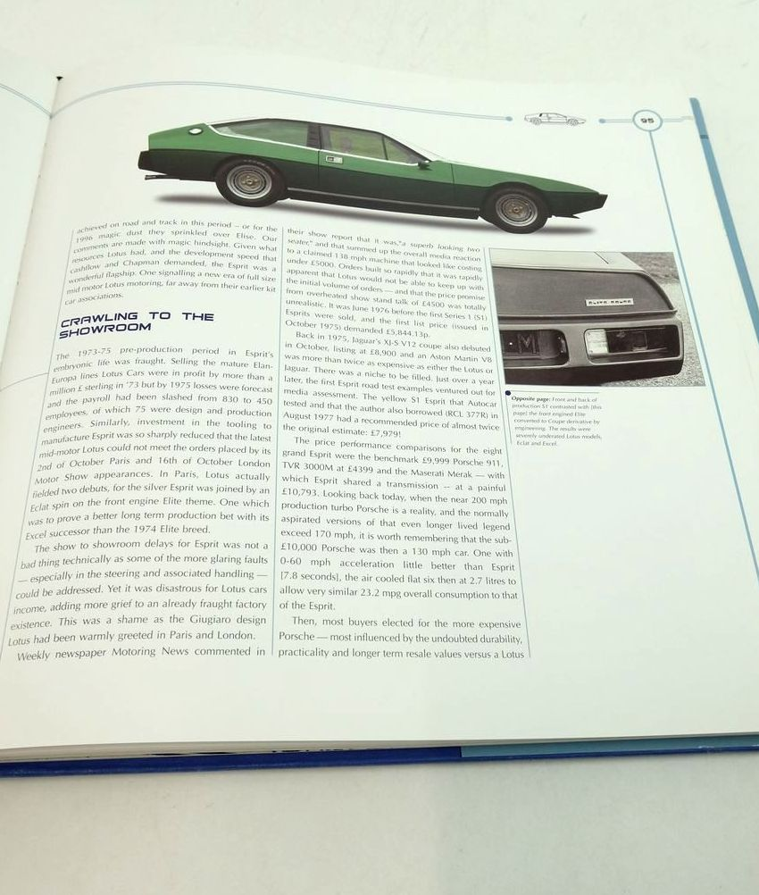 Photo of LOTUS ESPRIT: THE OFFICIAL STORY written by Walton, Jeremy published by Coterie Press Limited (STOCK CODE: 1822121)  for sale by Stella & Rose's Books