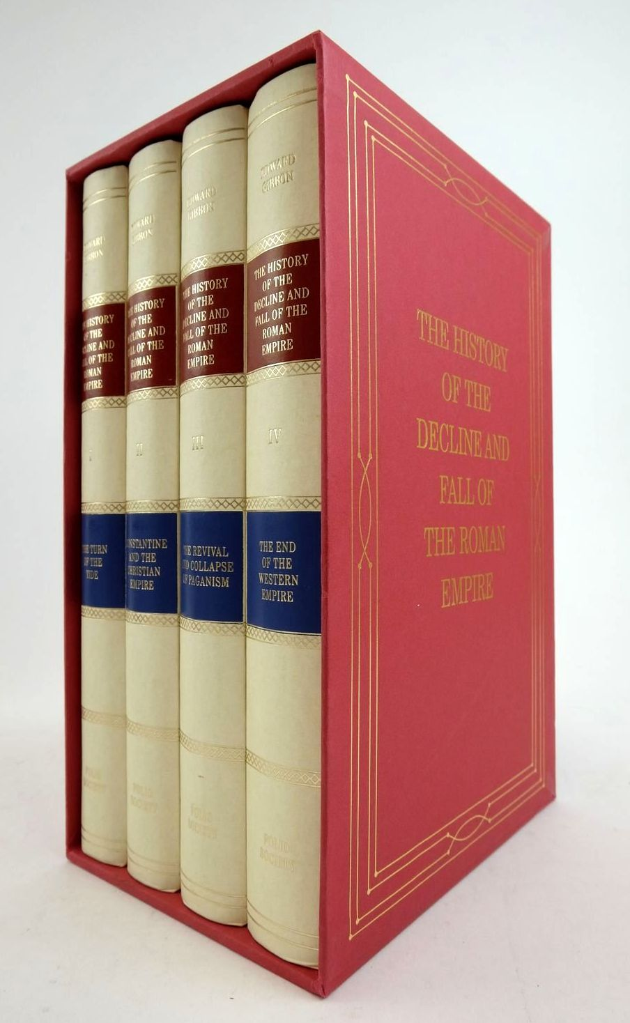 Photo of THE HISTORY OF THE DECLINE AND FALL OF THE ROMAN EMPIRE (VOLUMES I-IV) written by Gibbon, Edward published by Folio Society (STOCK CODE: 1822459)  for sale by Stella & Rose's Books