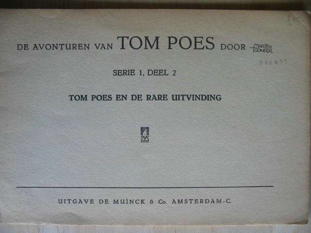 Photo of TOM POES EN DE RARE UITVINDING written by Toonder, Marten illustrated by Toonder, Marten published by Muinck & Co. (STOCK CODE: 2001073)  for sale by Stella & Rose's Books