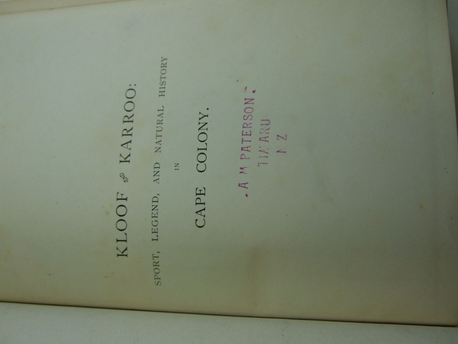 Photo of KLOOF AND KARROO written by Bryden, H.A. published by Longmans, Green & Co. (STOCK CODE: 2107907)  for sale by Stella & Rose's Books