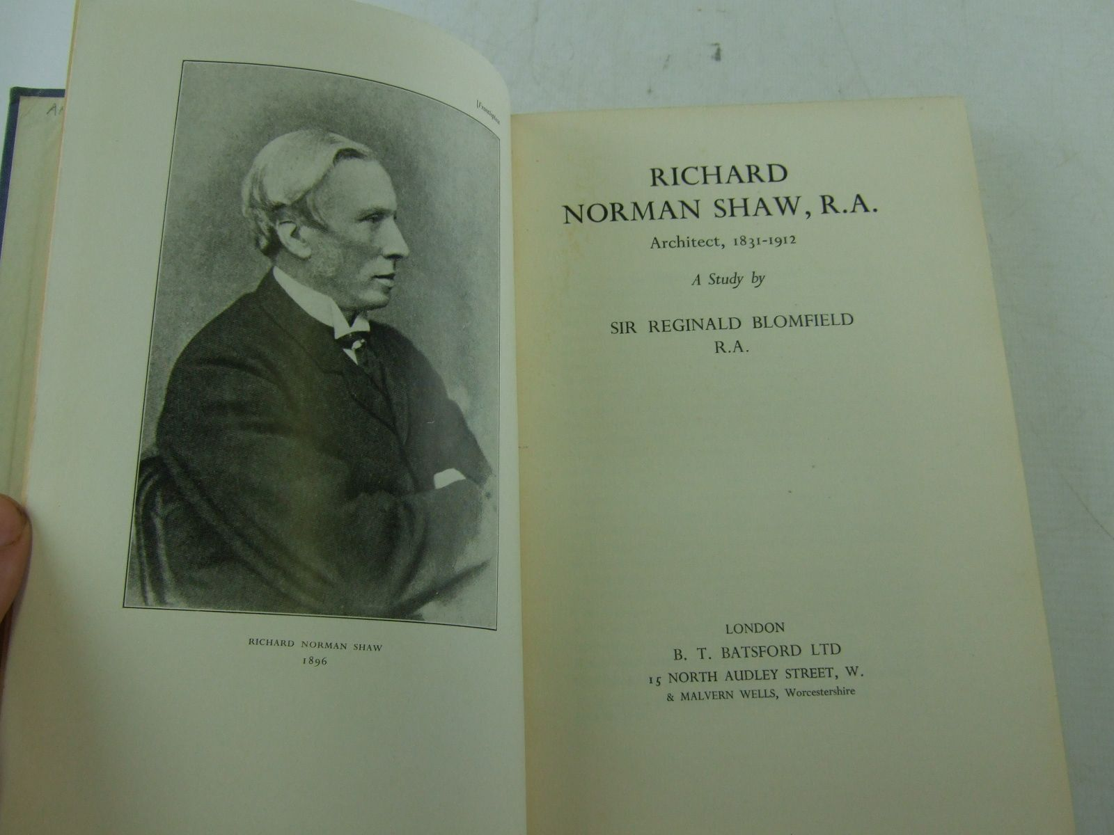 Photo of RICHARD NORMAN SHAW, R.A. written by Blomfield, Reginald published by B.T. Batsford Ltd. (STOCK CODE: 2109031)  for sale by Stella & Rose's Books
