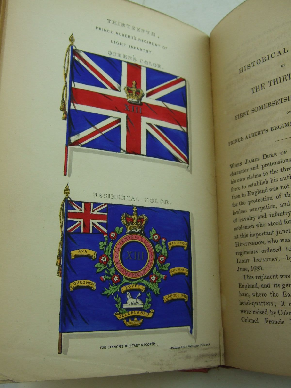 Photo of HISTORICAL RECORD OF THE THIRTEENTH, FIRST SOMERSET, THE PRINCE ALBERT'S REGIMENT OF LIGHT INFANTRY written by Cannon, Richard published by Parker, Furnivall & Parker (STOCK CODE: 2109177)  for sale by Stella & Rose's Books