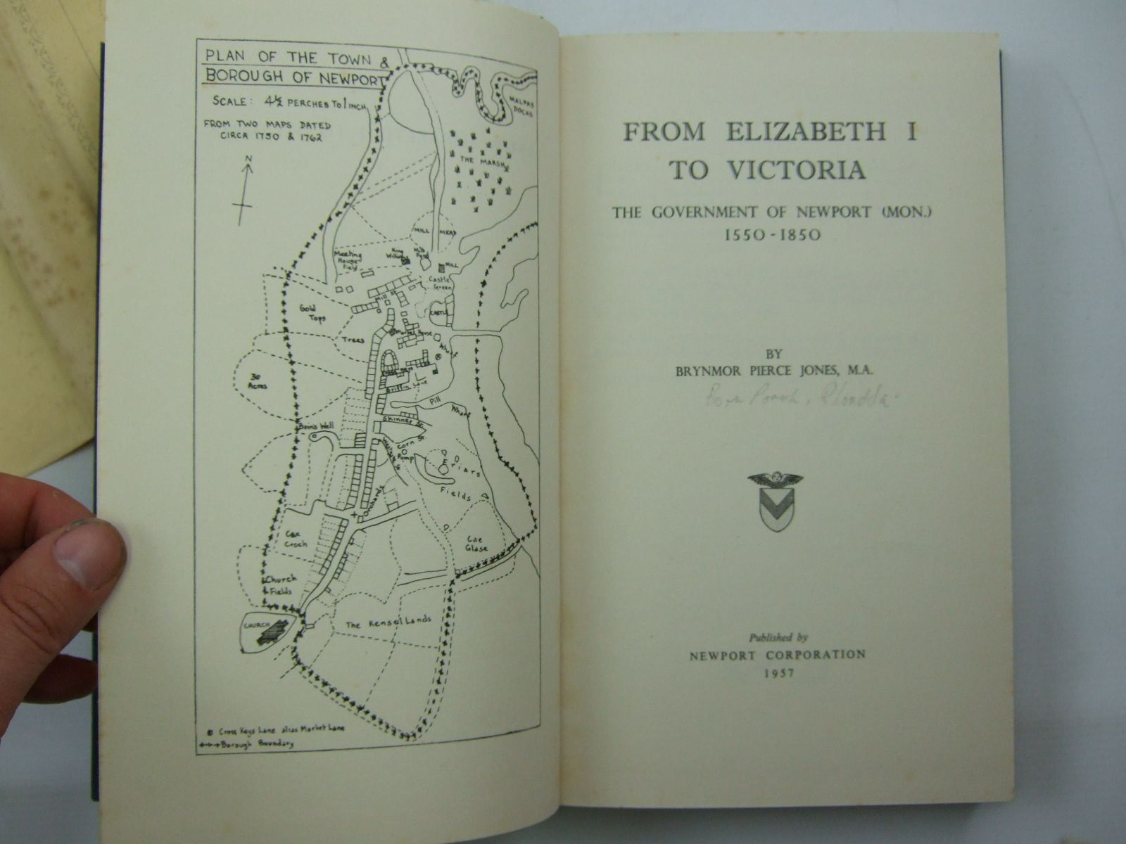 Photo of FROM ELIZABETH I TO VICTORIA written by Jones, Brynmor Pierce published by Newport Corporation (STOCK CODE: 2109471)  for sale by Stella & Rose's Books