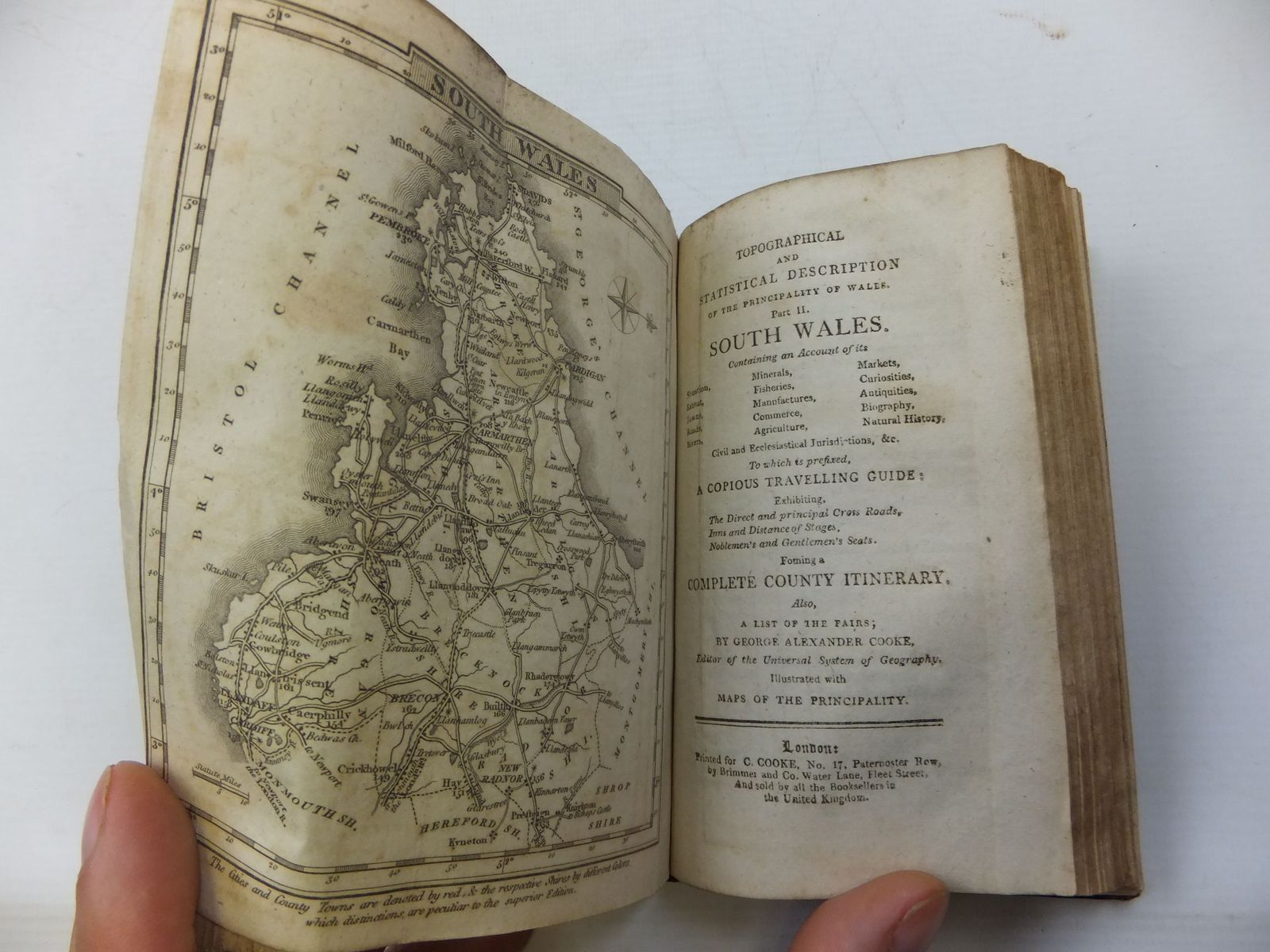 Photo of TOPOGRAPHICAL AND STATISTICAL DESCRIPTION OF THE PRINCIPALITY OF WALES (PARTS I AND II) written by Cooke, George Alexander published by C. Cooke (STOCK CODE: 2110101)  for sale by Stella & Rose's Books