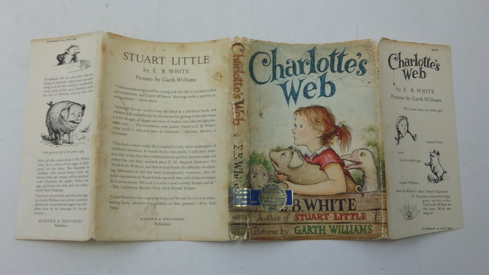 Photo of CHARLOTTE'S WEB written by White, E.B. illustrated by Williams, Garth published by Harper & Bros (STOCK CODE: 2111629)  for sale by Stella & Rose's Books