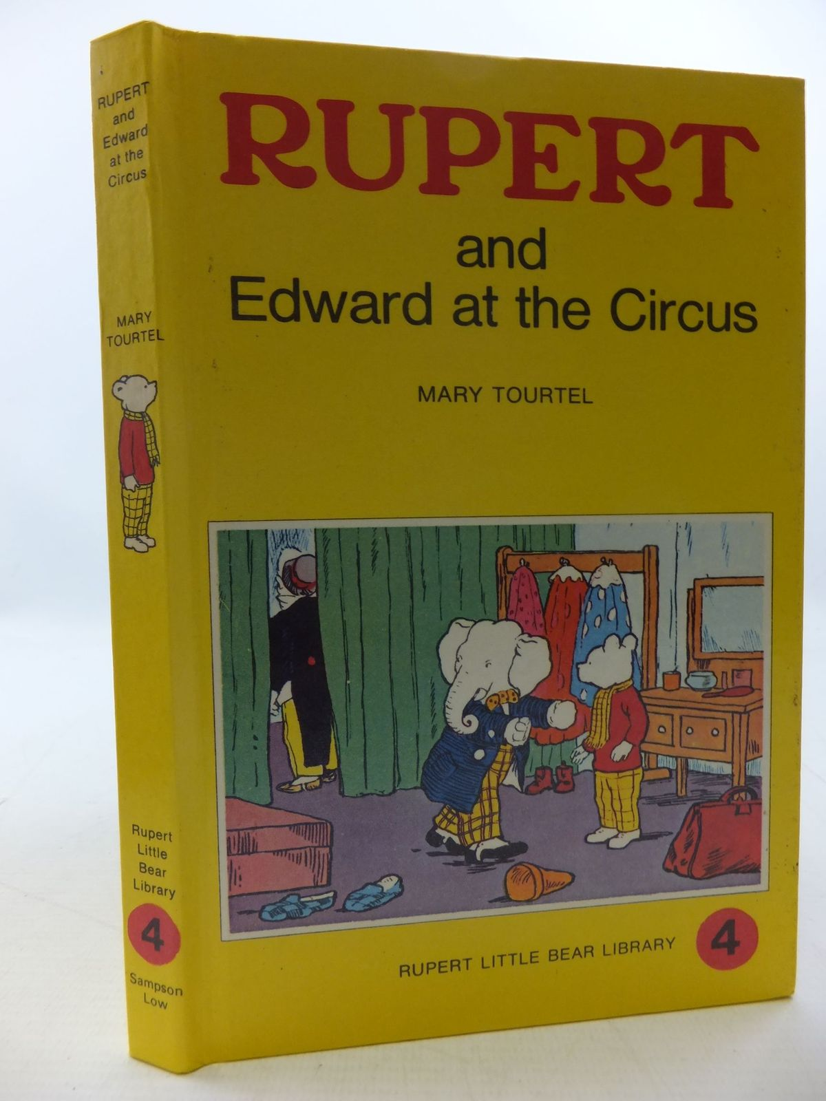Photo of RUPERT AND EDWARD AT THE CIRCUS - RUPERT LITTLE BEAR LIBRARY No. 4 (WOOLWORTH) written by Tourtel, Mary illustrated by Tourtel, Mary published by Sampson Low, Marston & Co. (STOCK CODE: 2112761)  for sale by Stella & Rose's Books