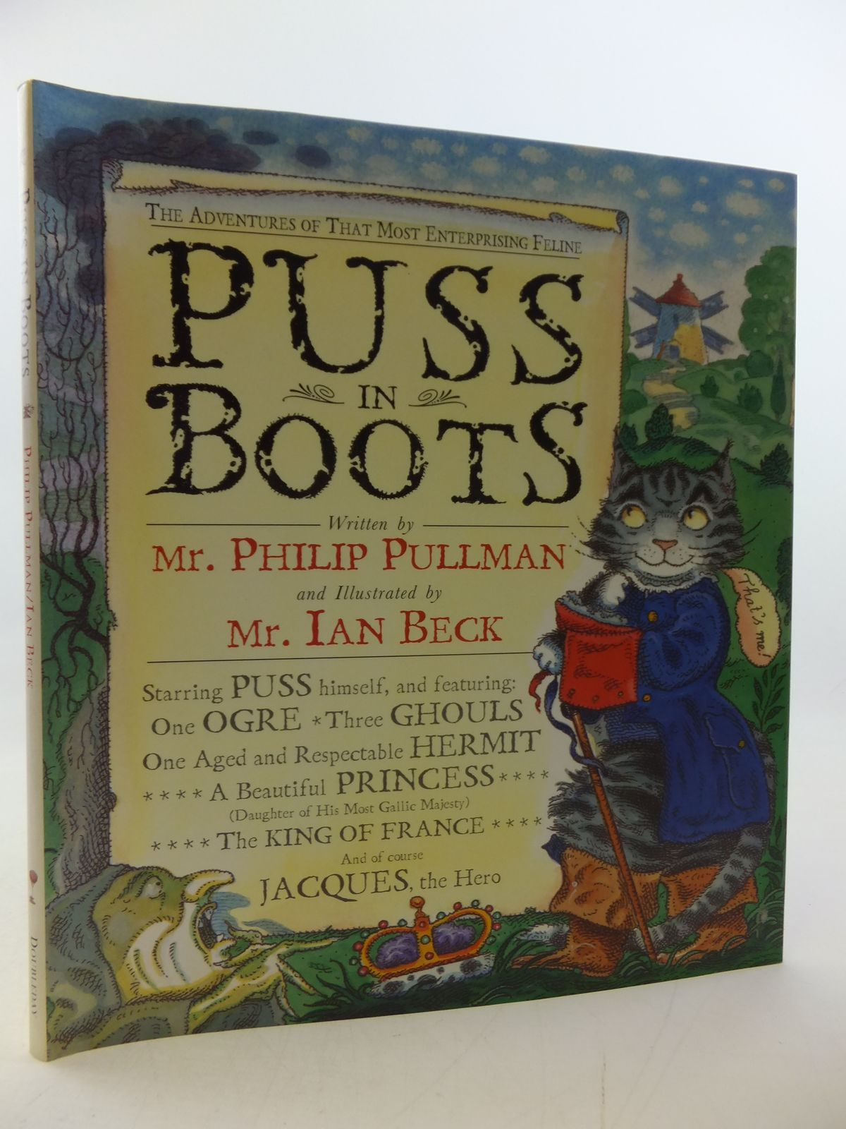 Photo of PUSS IN BOOTS written by Pullman, Philip illustrated by Beck, Ian published by Doubleday (STOCK CODE: 2113279)  for sale by Stella & Rose's Books