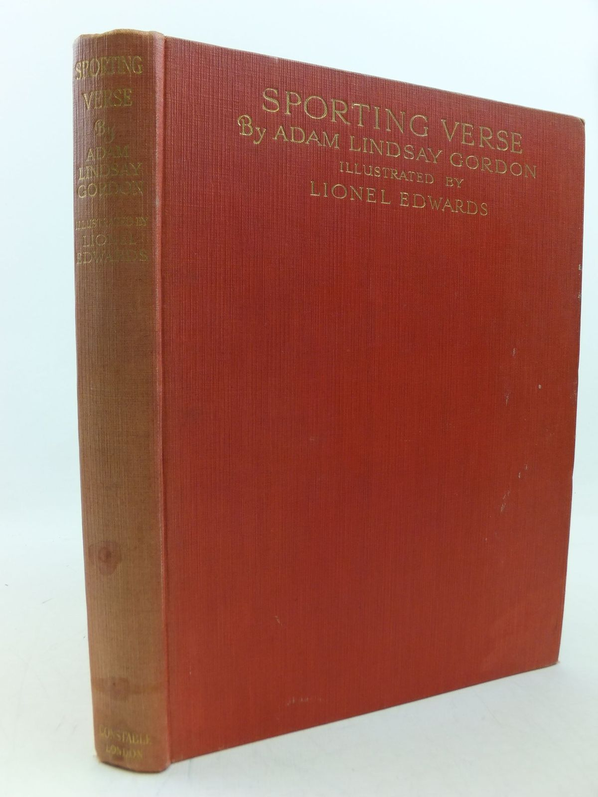 Photo of SPORTING VERSE written by Gordon, Adam Lindsay illustrated by Edwards, Lionel published by Constable & Co. Ltd. (STOCK CODE: 2113378)  for sale by Stella & Rose's Books