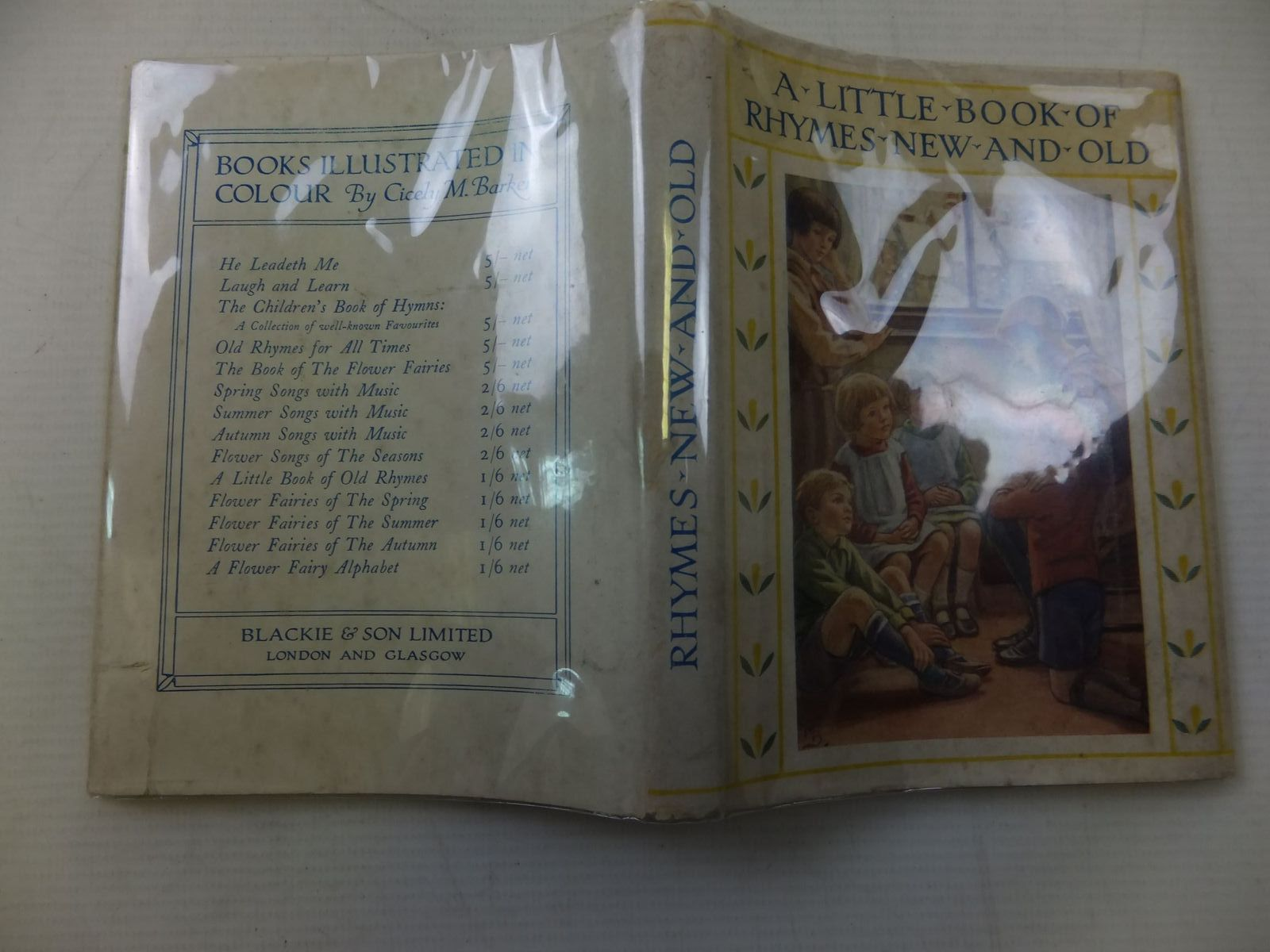 Photo of A LITTLE BOOK OF RHYMES NEW AND OLD written by Barker, Cicely Mary illustrated by Barker, Cicely Mary published by Blackie & Son Ltd. (STOCK CODE: 2113902)  for sale by Stella & Rose's Books