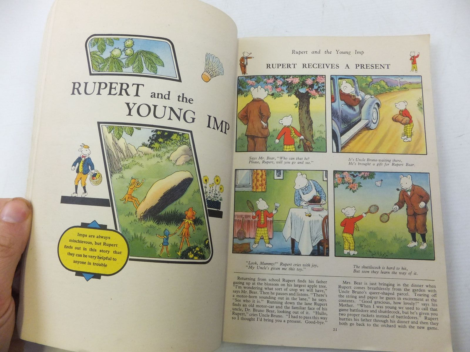 Photo of RUPERT ANNUAL 1949 written by Bestall, Alfred illustrated by Bestall, Alfred published by Daily Express (STOCK CODE: 2113912)  for sale by Stella & Rose's Books