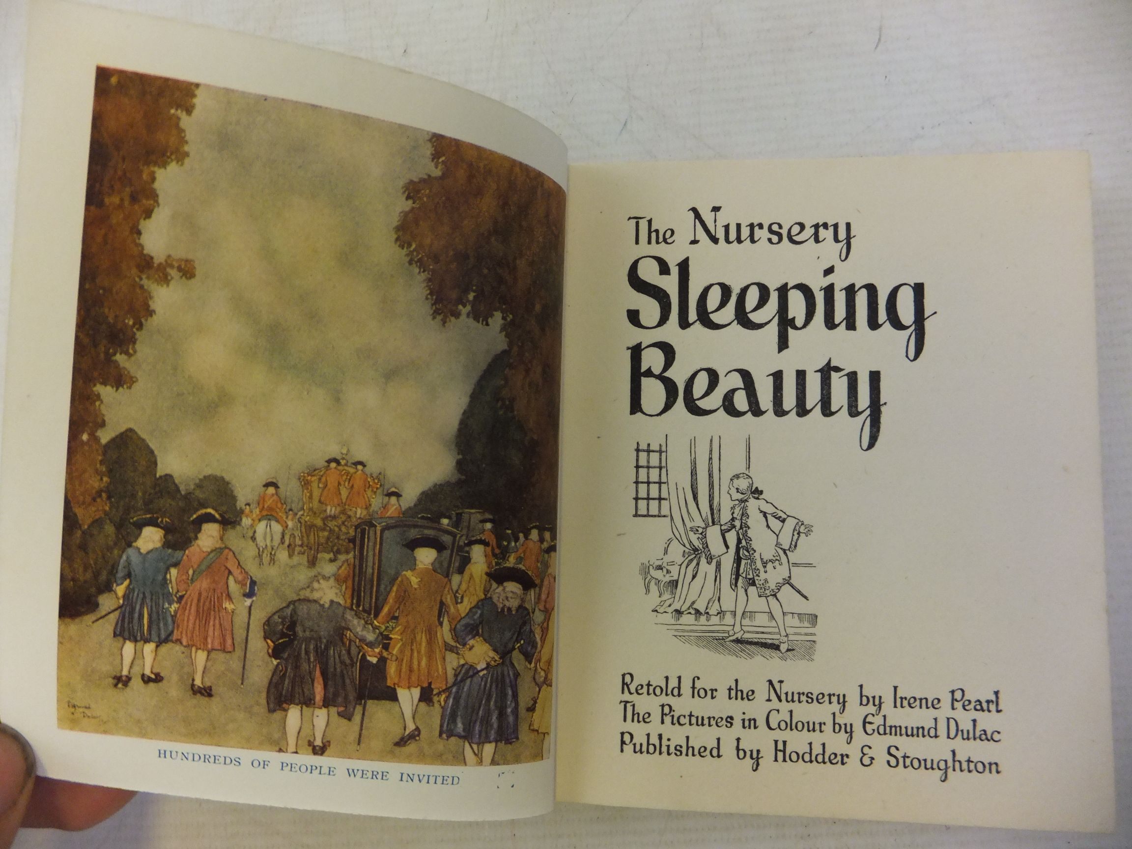 Photo of THE NURSERY SLEEPING BEAUTY written by Pearl, Irene illustrated by Dulac, Edmund published by Hodder & Stoughton (STOCK CODE: 2115129)  for sale by Stella & Rose's Books