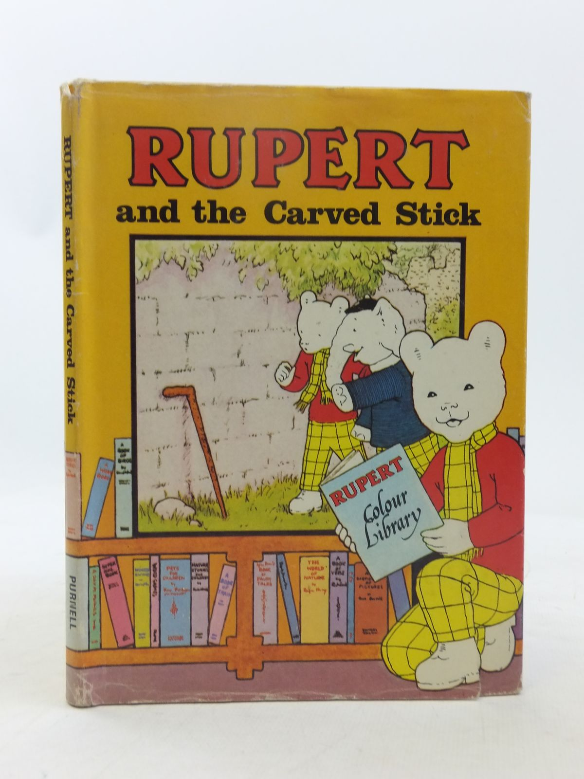 Photo of RUPERT AND THE CARVED STICK written by Bestall, Alfred illustrated by Bestall, Alfred published by Purnell (STOCK CODE: 2118350)  for sale by Stella & Rose's Books