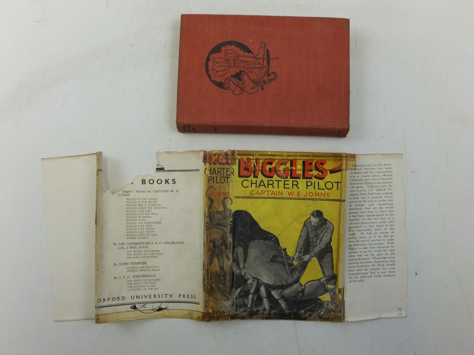 Photo of BIGGLES CHARTER PILOT written by Johns, W.E. illustrated by Mendoza,  published by Oxford University Press, Humphrey Milford (STOCK CODE: 2118395)  for sale by Stella & Rose's Books
