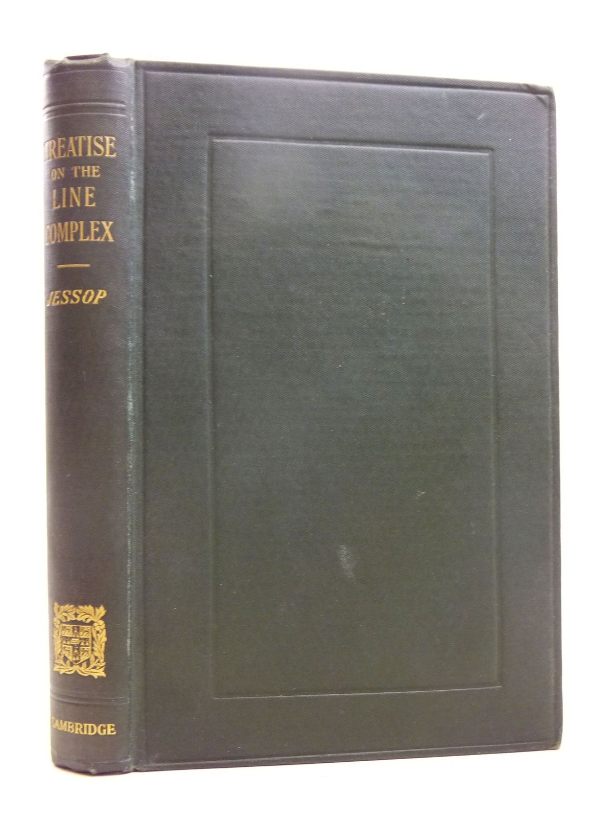 Photo of A TREATISE ON THE LINE COMPLEX written by Jessop, C.M. published by Cambridge University Press (STOCK CODE: 2118863)  for sale by Stella & Rose's Books
