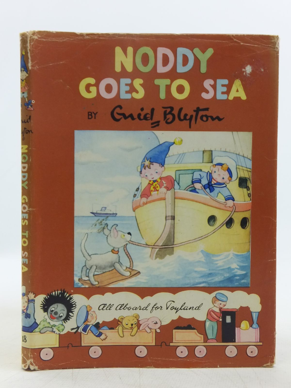Photo of NODDY GOES TO SEA written by Blyton, Enid illustrated by Wienk, Peter published by Sampson Low, Marston & Co. Ltd., Dennis Dobson Ltd. (STOCK CODE: 2118924)  for sale by Stella & Rose's Books