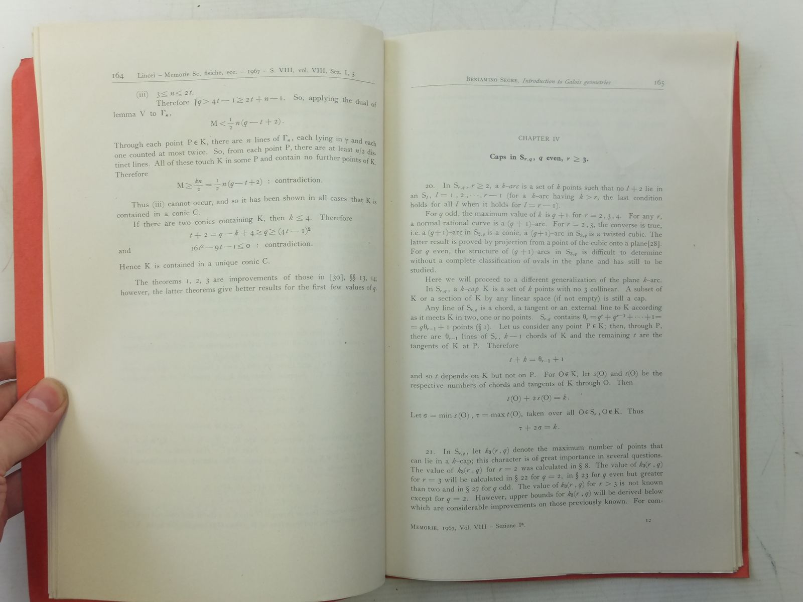 Photo of INTRODUCTION TO GALOIS GEOMETRIES written by Segre, Beniamino published by Accademia Nazionale Dei Lincei (STOCK CODE: 2119051)  for sale by Stella & Rose's Books