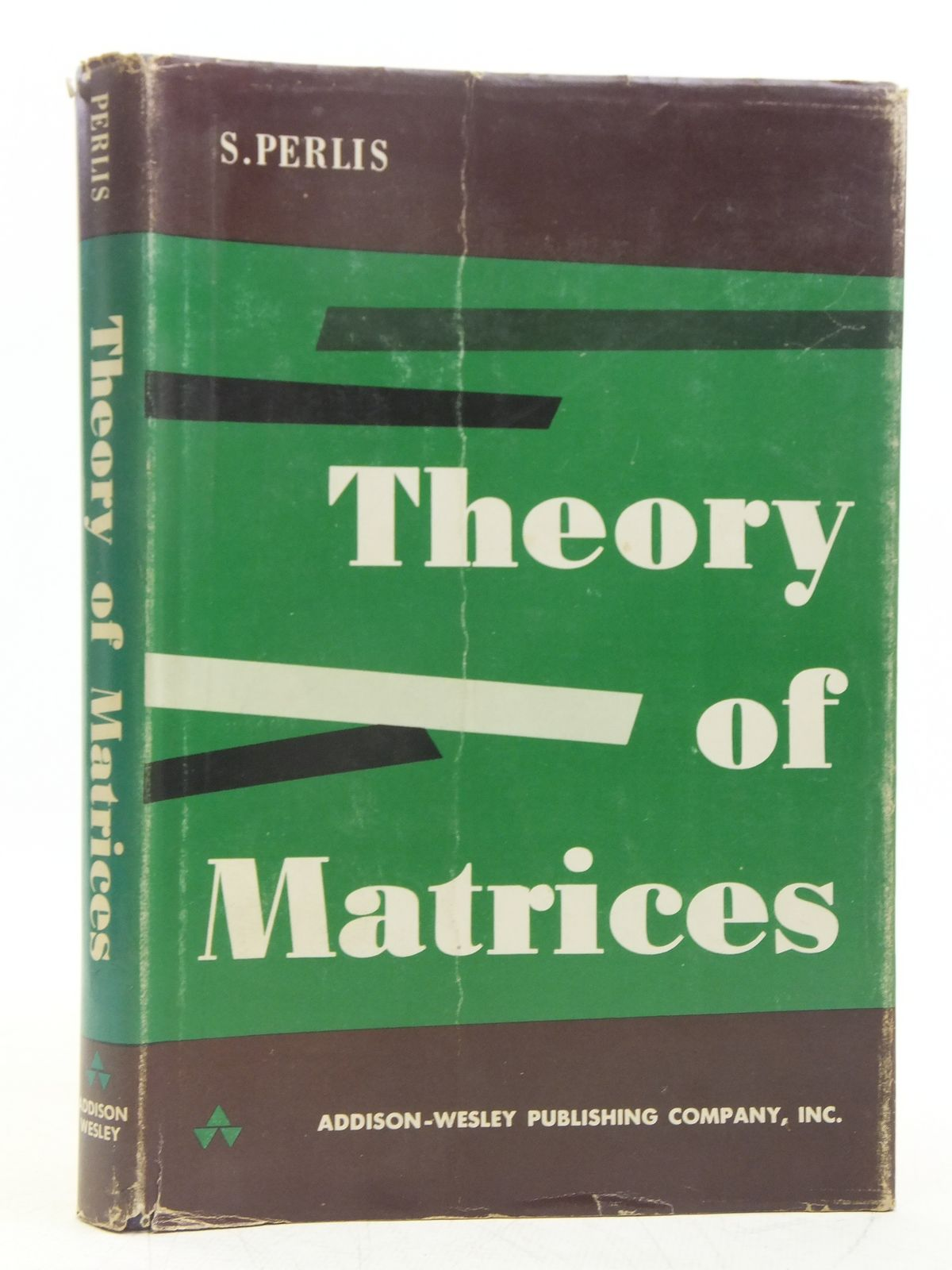 Photo of THEORY OF MATRICES written by Perlis, Sam published by Addison-Wesley Publishing Company Inc. (STOCK CODE: 2119280)  for sale by Stella & Rose's Books