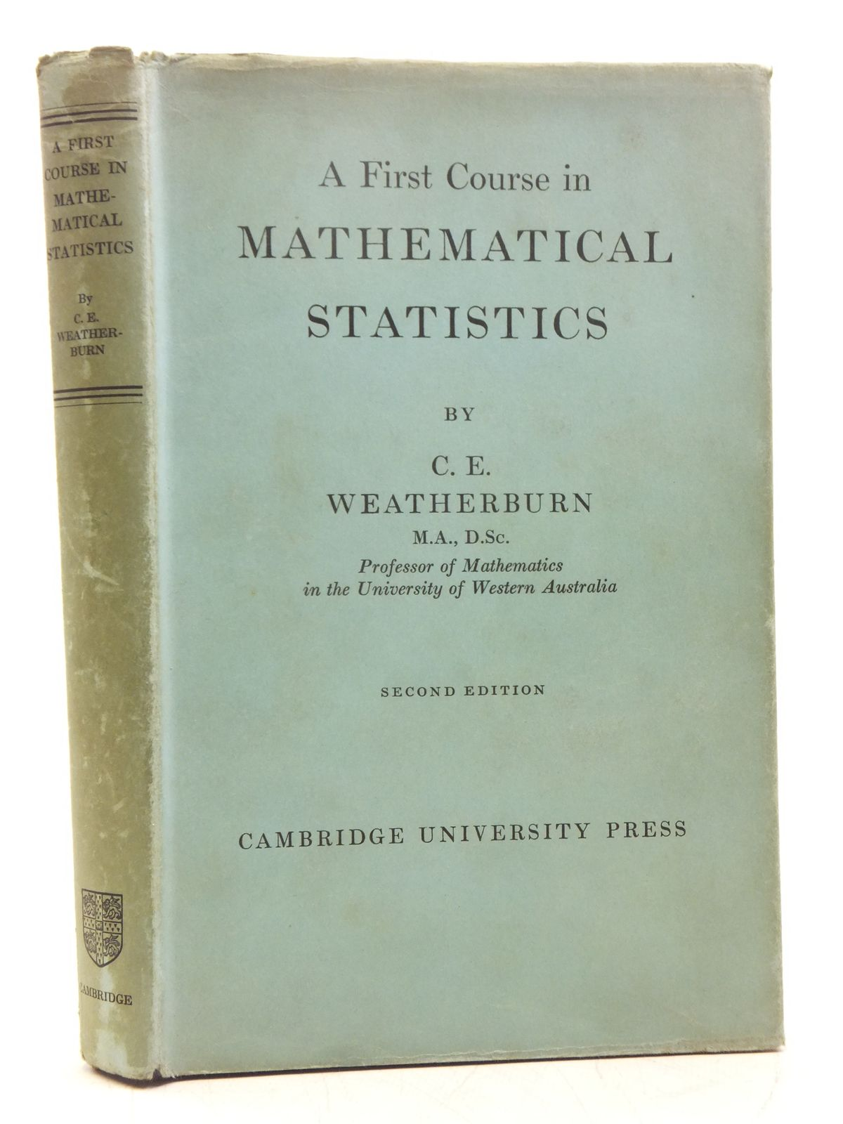 Photo of A FIRST COURSE IN MATHEMATICAL STATISTICS- Stock Number: 2119495