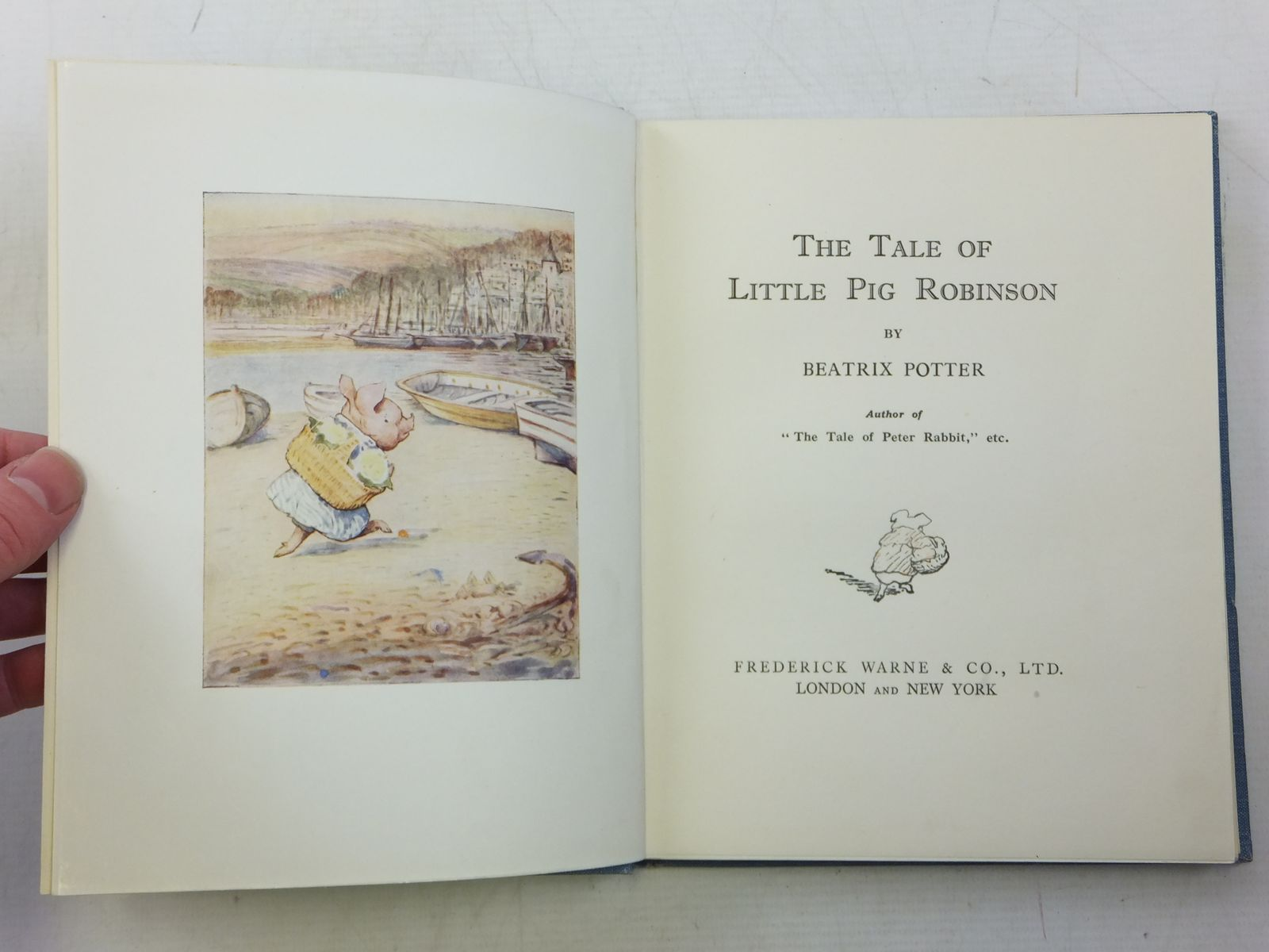 Photo of THE TALE OF LITTLE PIG ROBINSON written by Potter, Beatrix illustrated by Potter, Beatrix published by Frederick Warne & Co Ltd. (STOCK CODE: 2119700)  for sale by Stella & Rose's Books