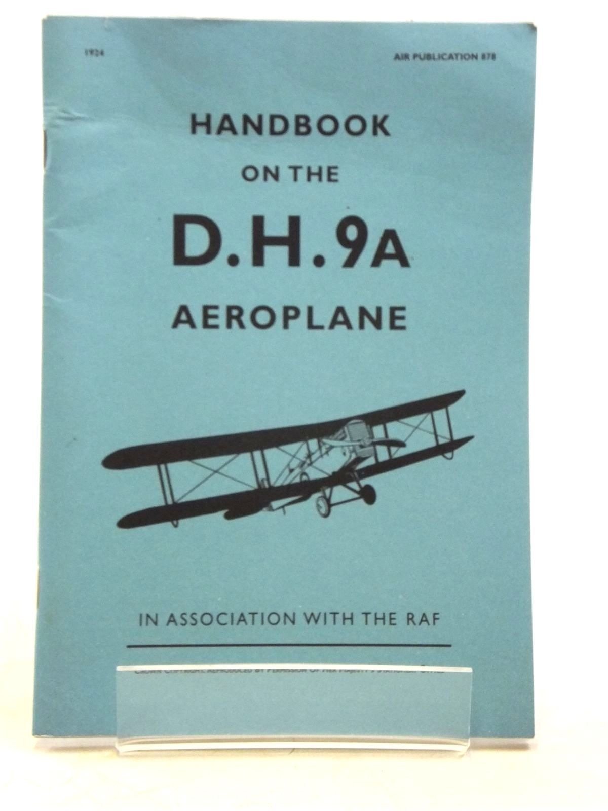 Photo of HANDBOOK ON THE D.H.9A. AEROPLANE published by Eaglemoss Publications (STOCK CODE: 2119775)  for sale by Stella & Rose's Books