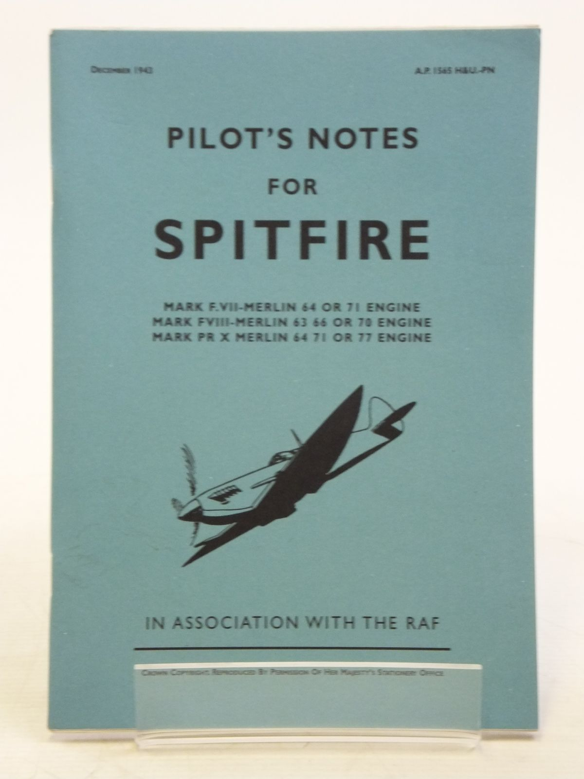 Photo of PILOT'S NOTES FOR THE SPITFIRE- Stock Number: 2119776